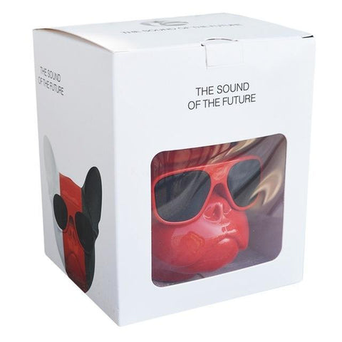 Image of Bulldog Portable Bluetooth Wireless Speaker Big Red Head joeypatch