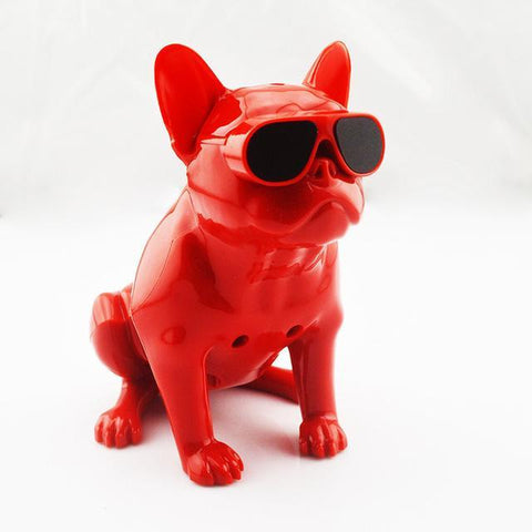 Bulldog Portable Bluetooth Wireless Speaker Small fullbody Red joeypatch