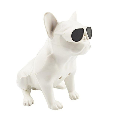 Image of Bulldog Portable Bluetooth Wireless Speaker Small fullbody White joeypatch