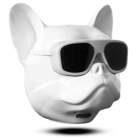 Image of Bulldog Portable Bluetooth Wireless Speaker Small White Head joeypatch