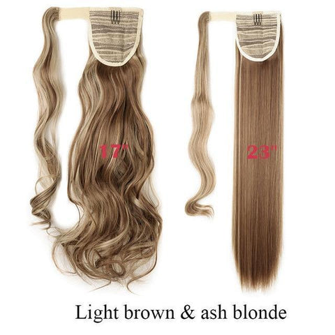 Image of Clip In Synthetic Wrap Around Pony Tail Hair Extension For Women 12P24 / Wavy