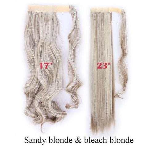 Clip In Synthetic Wrap Around Pony Tail Hair Extension For Women 16P613 / Wavy