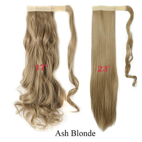Image of Clip In Synthetic Wrap Around Pony Tail Hair Extension For Women 24 / Wavy