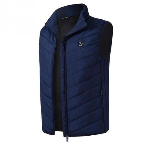 Electric Heated Thermal Vest Winter Jacket blue / S joeypatch