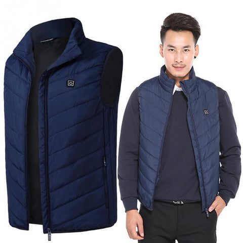 Electric Heated Thermal Vest Winter Jacket joeypatch