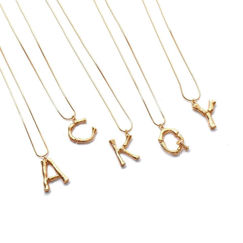 Image of ZIIME 2019 New Alphabet Initial Letter Pendant Necklace Female Gold Silver Color Snake Chain Choker Collar Necklaces for Women Gold-color / A