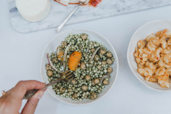 Potluck Bites: Spicy Vegan Pesto Couscous Salad ft. Baby Clydesdale