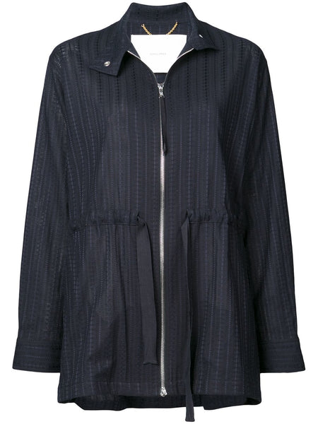 ADAM LIPPES Swiss Navy Voile Anorak W Side Ties