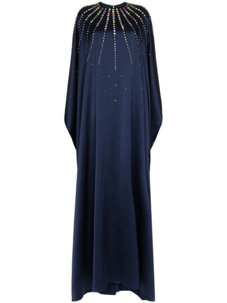 CAROLINA HERRERA Jeweled caftan silk dress