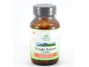 Organic India Weight Balance Burn Fat Loose Obesity Fatigue Herbal 60 Vcaps