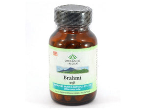 Organic India Brahmi Herbal Increase Memory Build Concentration Antistress VCaps
