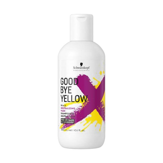 Schwarzkopf Professional Goodbye Yellow Neutralizing Shampoo 300ml available from Eds Bramhall