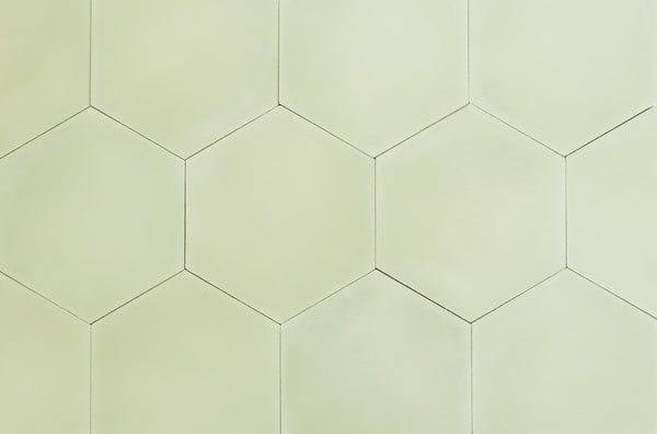 Cement Hexagon Light Olive