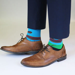 Blue and dotted Odd Socks