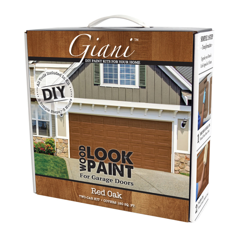 Giani Red Oak Wood Look Kit for Garage Doors