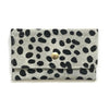 Snap Wallet- White Cheetah Hair on Hide