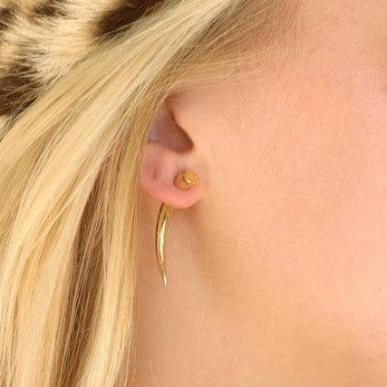 Fake Gauges - Small Gold Talon Earrings