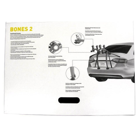 Saris Bones 2 Grey Car Trunk Rack