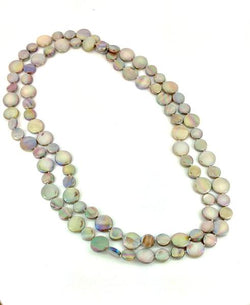 Taupe Single Strand Mother of Pearl Necklace