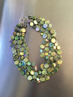 Moss 5 Strand Mother of Pearl Necklace