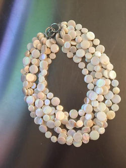 White 5 Strand Mother of Pearl Necklace