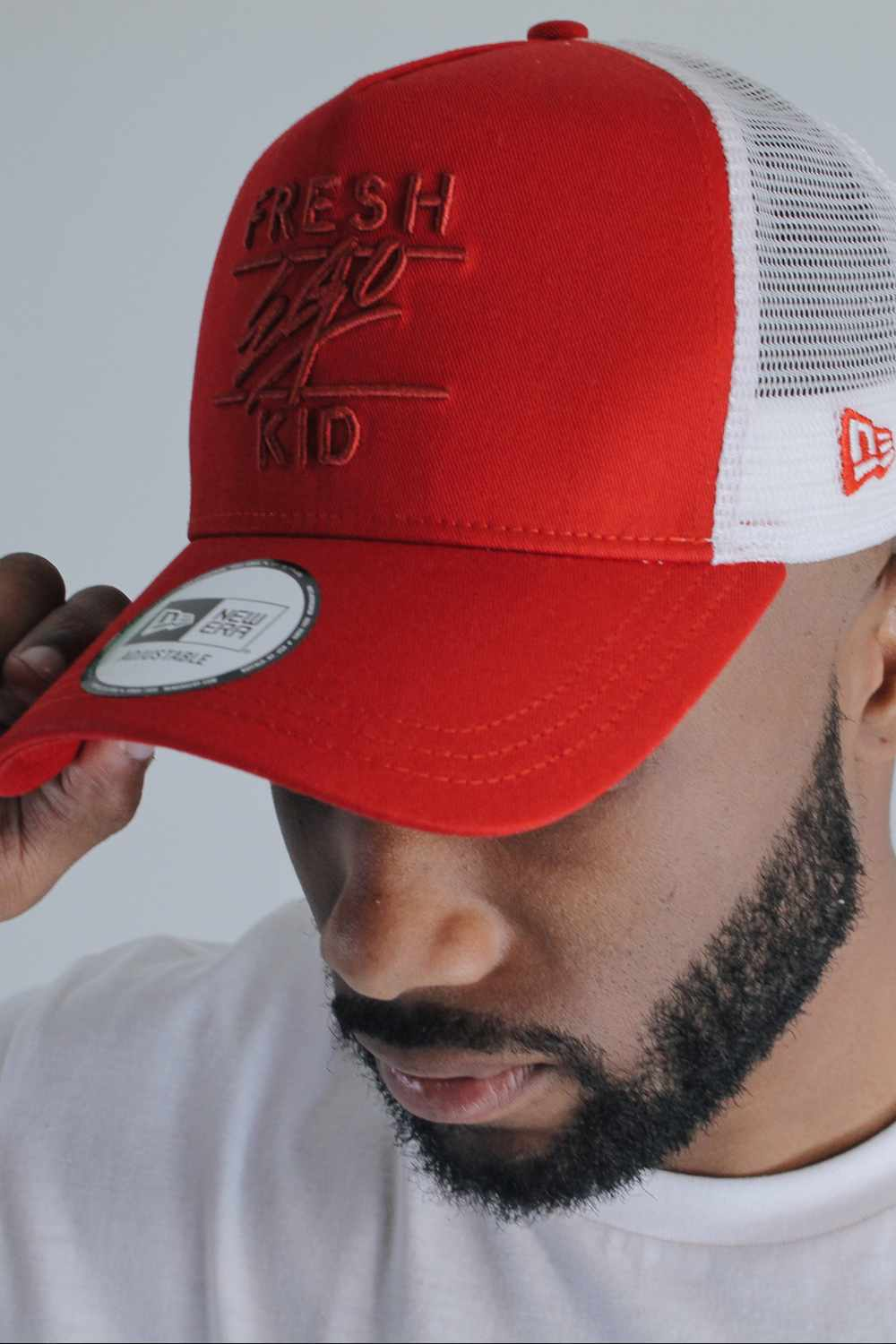 Fresh Ego Kid New Era Mesh Trucker Cap - Red/White - 1