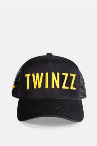 Twinzz 3D Mesh Trucker Cap -  Black/Yellow - 1