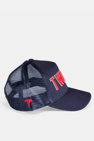 Twinzz 3D Mesh Trucker Cap -  Navy/Red - 1