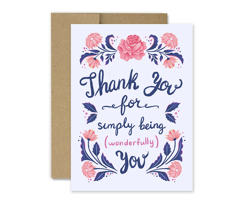 Simply Wonderful - Thanks Card