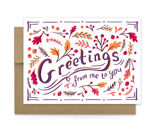 Seasons Greetings - Autumn Card