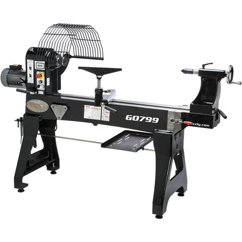 "Grizzly 20"" x 48"" Heavy Duty Wood Lathe"