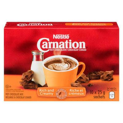 NESTLE CARNATION MELANGE A CHOCOLAT CHAUD RICHE CREMEUX 25 G