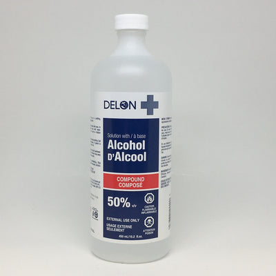 DELON ALCOOL À  FRICTION 450 ML