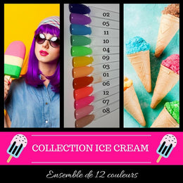 (À L'UNITÉ) Collection Ice Cream - Poudres de Trempage
