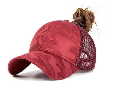 Camo Ponytail Baseball Hat