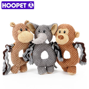 HOOPET pet dog Voice small toy dog toy monkey elephant ring pet toys pet training