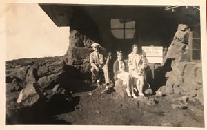 Vintage Photograph og A Family Posing at Haleakala, Maui Hawaii