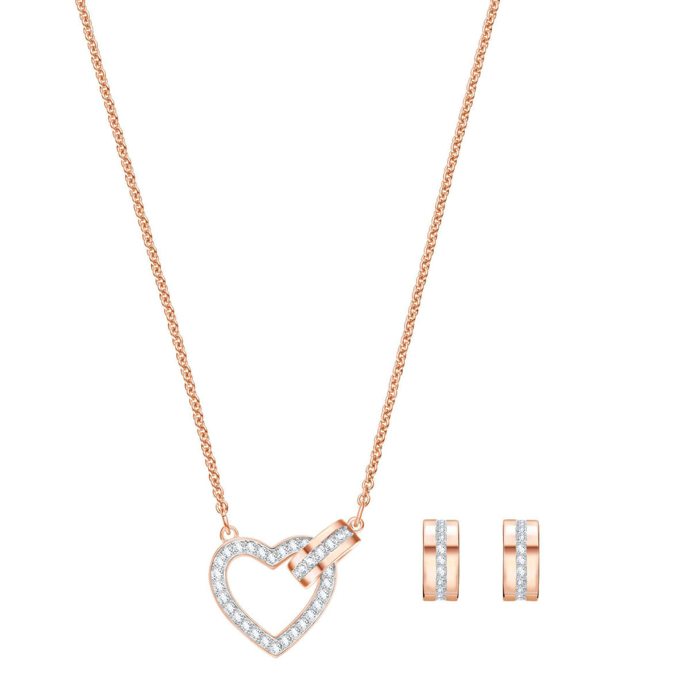 Lovely Set, White, Rose Gold Plating