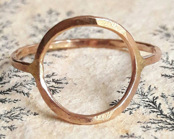 Yellow Gold Fill Circle Ring