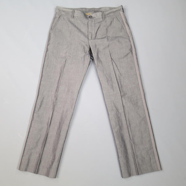 ETRO Size 32 Dark Gray Textured Cotton Blend Dress Pants
