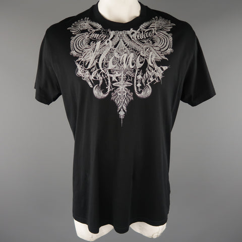 GIVENCHY Size S Black Graphic Cotton Oversized T-shirt