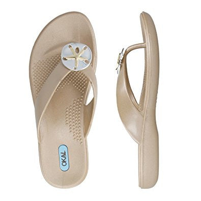 Oka B SANDY Flip Flops Sandals at FantaSea Coastal Home beach house decor