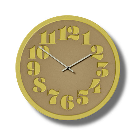 Stencil Clock in Canary
