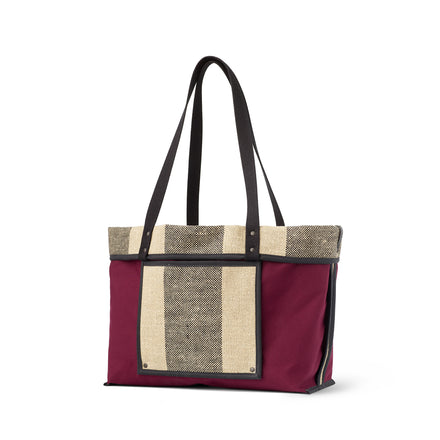 Linen Large Reversible Tote in Pluot