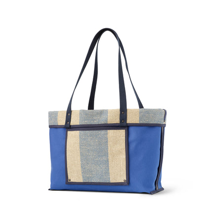 Linen Large Reversible Tote in Marine