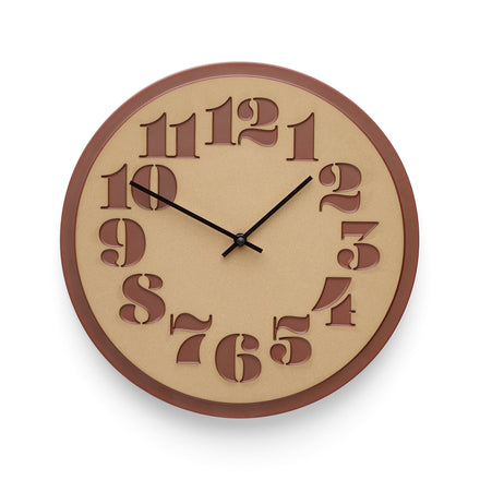 Stencil Clock in Black Plum