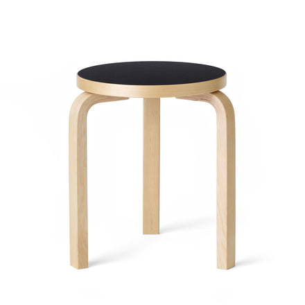 Stool 60 in Natural with Black Linoleum