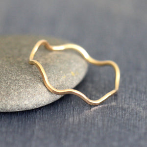 Wave Band - Simple Organic Stacking Ring