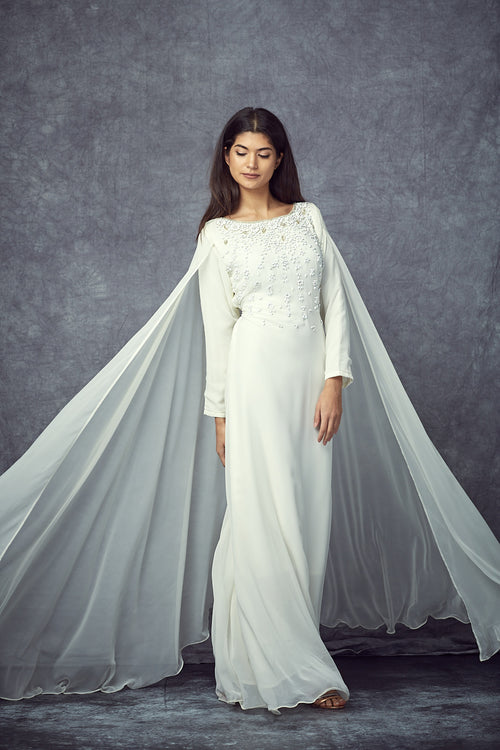 White Cape Gown