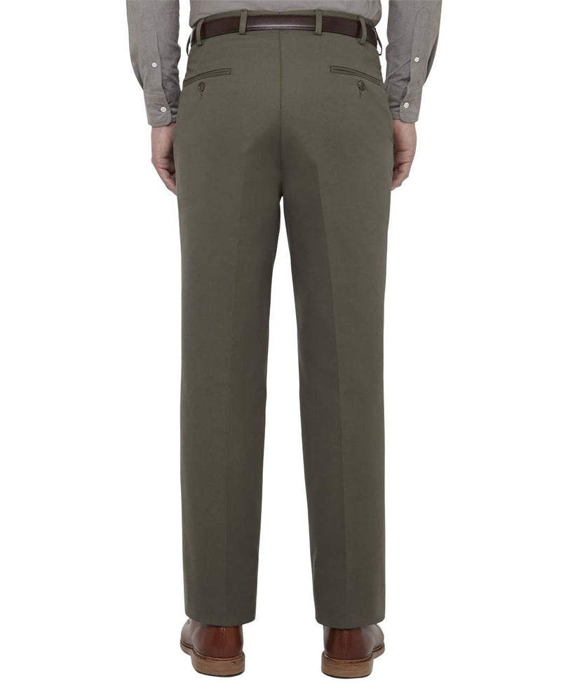 OLIVE COTTON DRILL TROUSERS